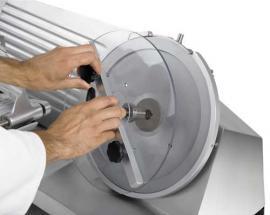 Полуавтоматический слайсер-ломтерезка Rheninghaus Start 300 SBR снятие ножа 1