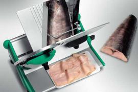 Полуавтоматический рыбный слайсер Rheninghaus Prima 250 для рыбы нарезка рыбы