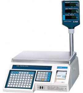 Весы с этикеткой CAS LP-30 R дисплей на стойке