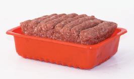 Упаковка колбасок в контейнеры