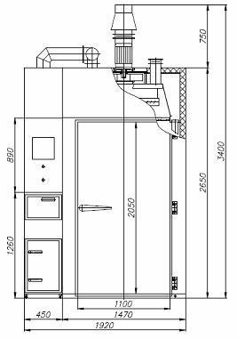 Коптильная камера REX-POL KKB-02 схема 1