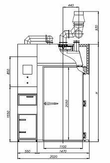 Коптильная камера REX-POL KKB-03 схема 1