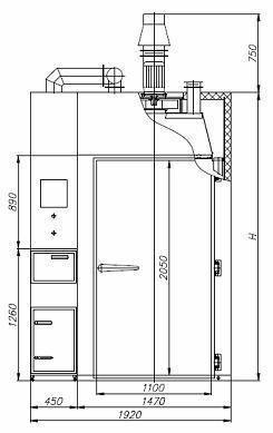 Коптильная камера REX-POL KKB-04 схема 1