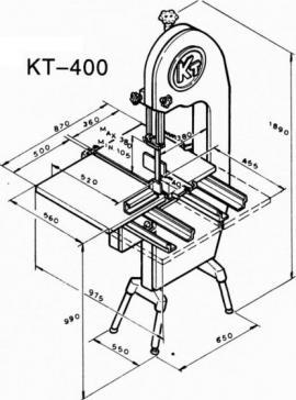 Ленточная пила KT-400 размеры