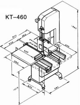 Ленточная пила KT-460 размеры