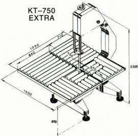 Ленточная пила KT-750 опции