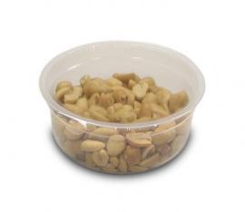Упаковка орехов в контейнеры на запайщике контейнеров Reepack Reetray 25