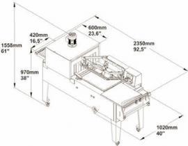 Упаковочная машина TMC 58 габариты